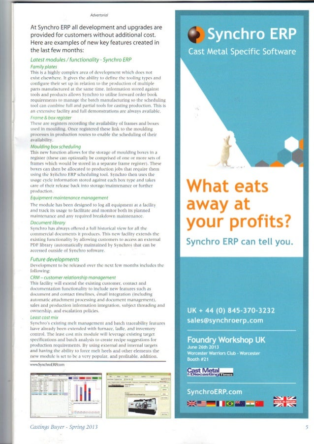 Casting buyers guide ftj supplement spring 2013