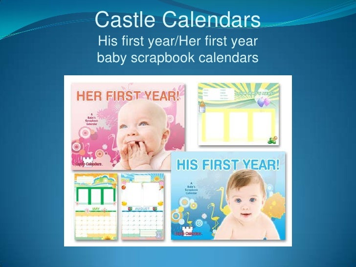 Baby Scrapbook Calendars by Castle Calendars