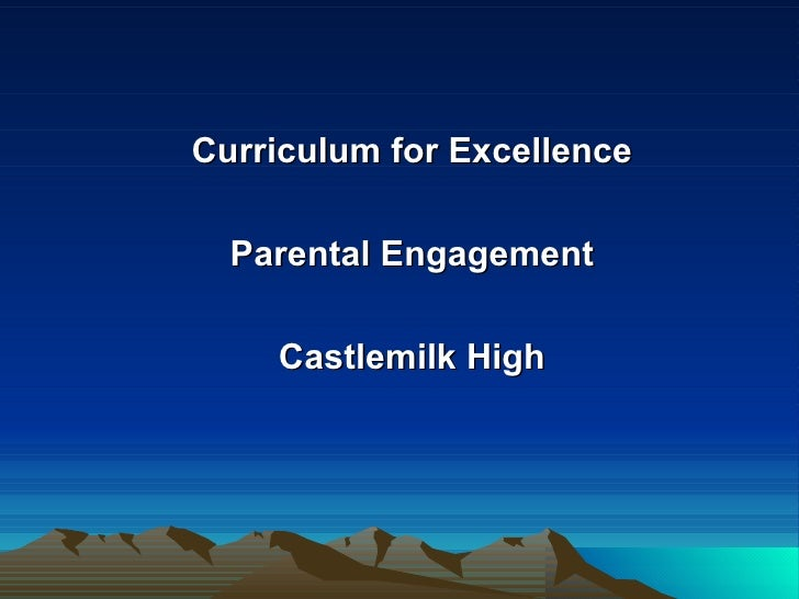 Castlemilk High - Curriculum for Excellence for Parents
