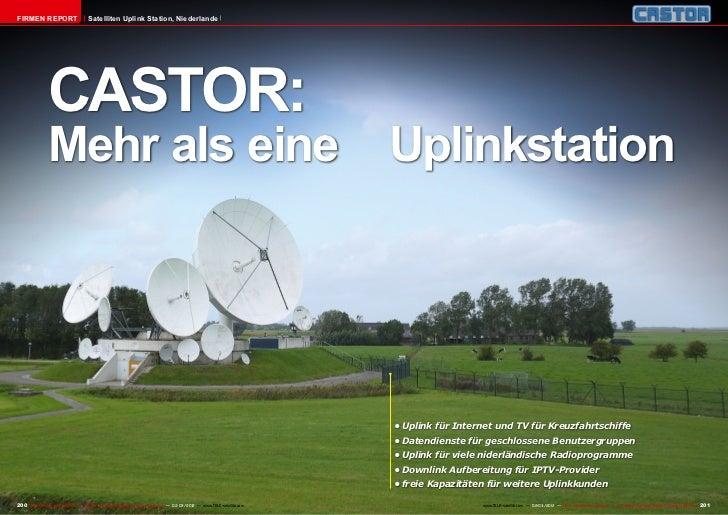 Firmen Report                       Satelliten Uplink Station, Niederlande               CASTOR:               Mehr als ei...