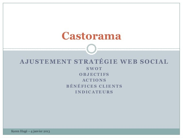 Castorama swot + stratégie + kpi