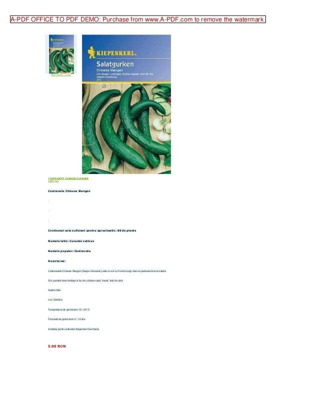 Castravete chinese slangen