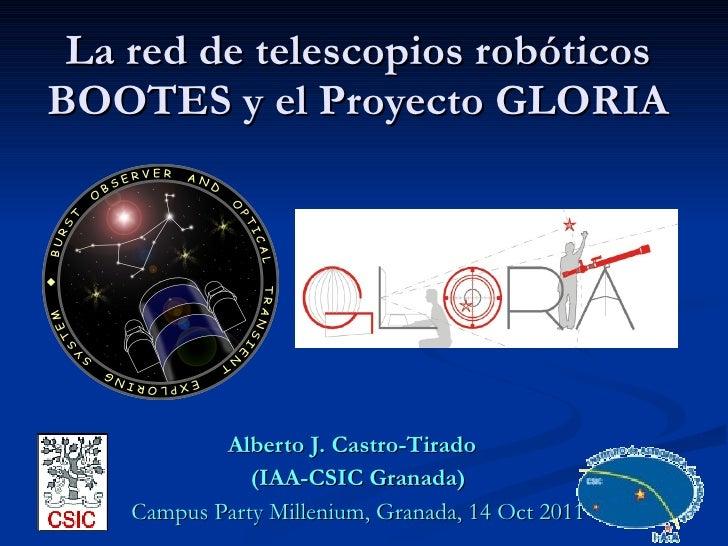 La red de telescopios robóticos BOOTES y el proyecto GLORIA