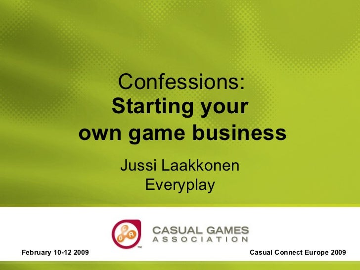 Starting a new game business