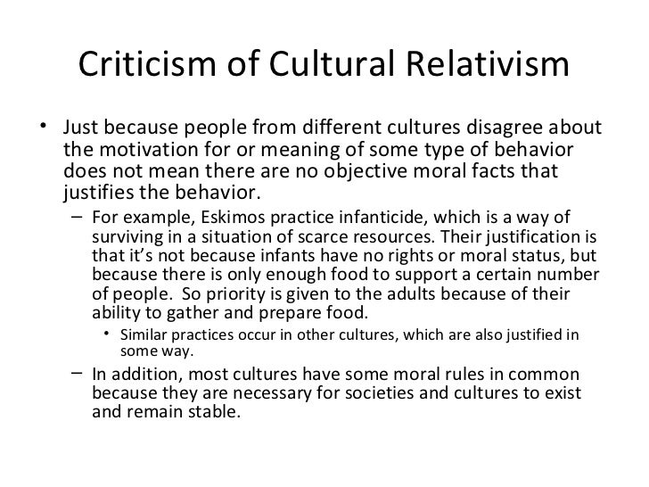 cultural relativism 5 essay A step towards globalization - cultural relativism the development of transportation and communication made a lot of chances to contact with a different.