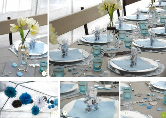 Catalogue mariage naissance d coration de table 2014 for Decoration de table bleu