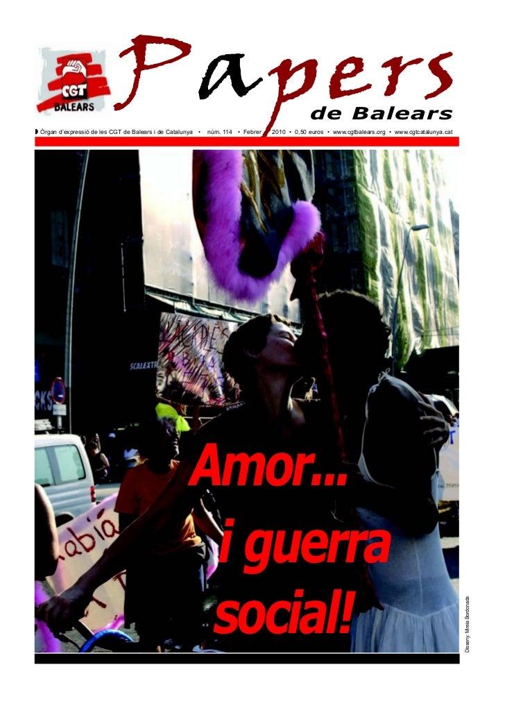 PapersZ Òrgan d'expressió de les CGT de Balears i de Catalunya •   núm. 114 • Febrer                                      ...