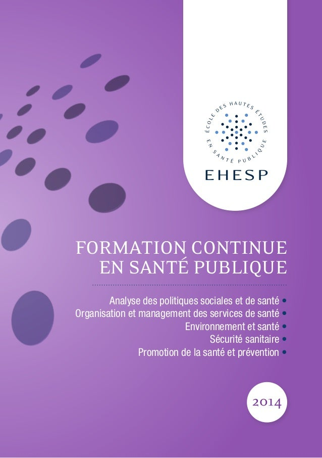 Edition 2014 du catalogue de formation continue EHESP
