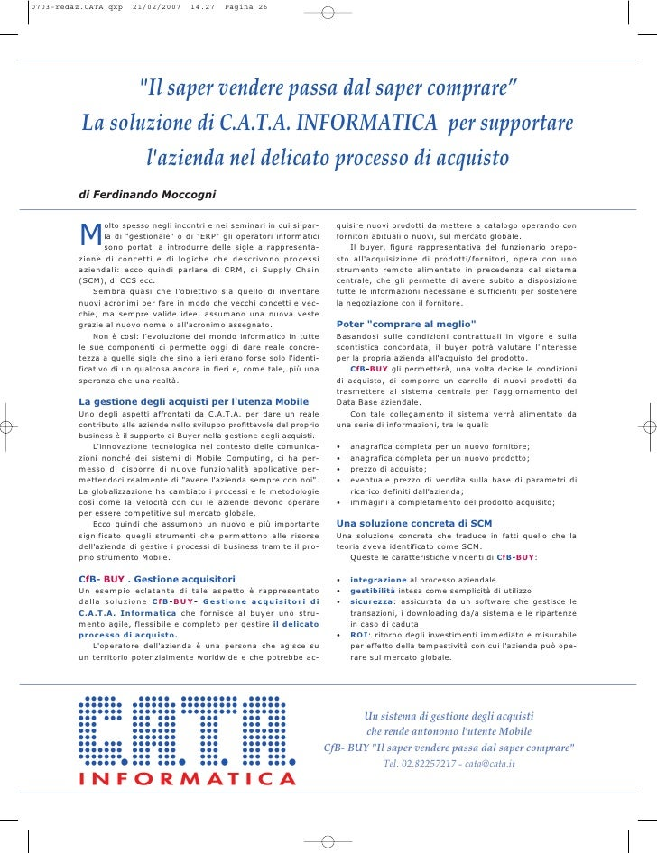 C.A.T.A. Redazionale CfB Buy System I Ibm