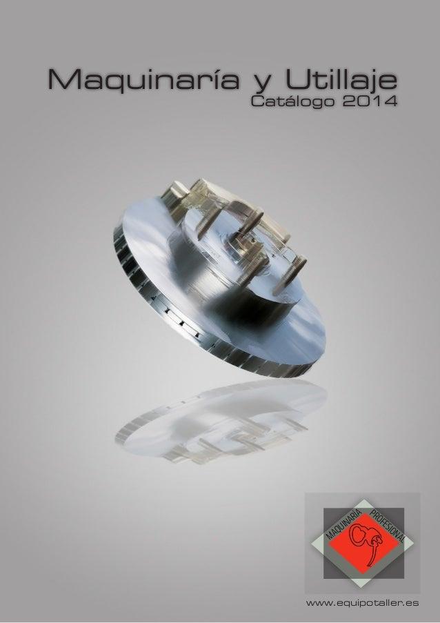 Catálogo Maquinaría - 2.014
