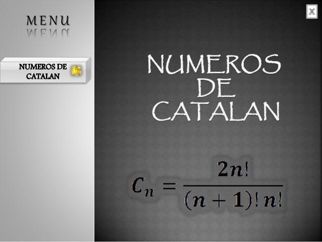 NUMEROS DE CATALAN M E N U
