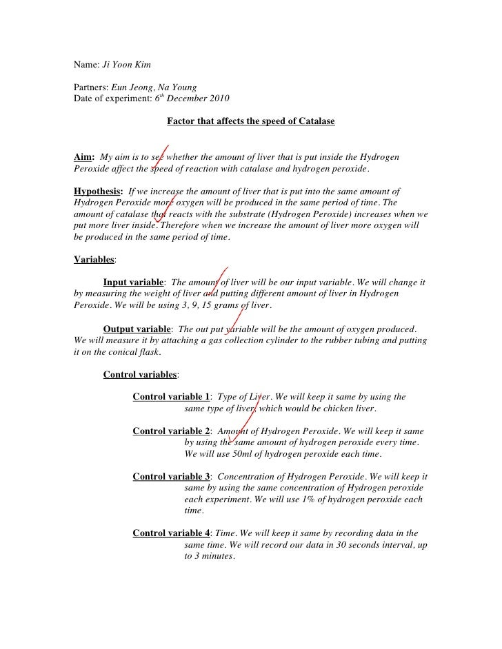 research papers catalase lab report Free catalase papers, essays, and research papers my account lab report on measuring the rate of conversion of hydrogen peroxide using enzyme catalysis.