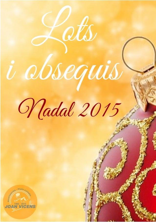 CATÀLEG LOTS NADALENCS 2015