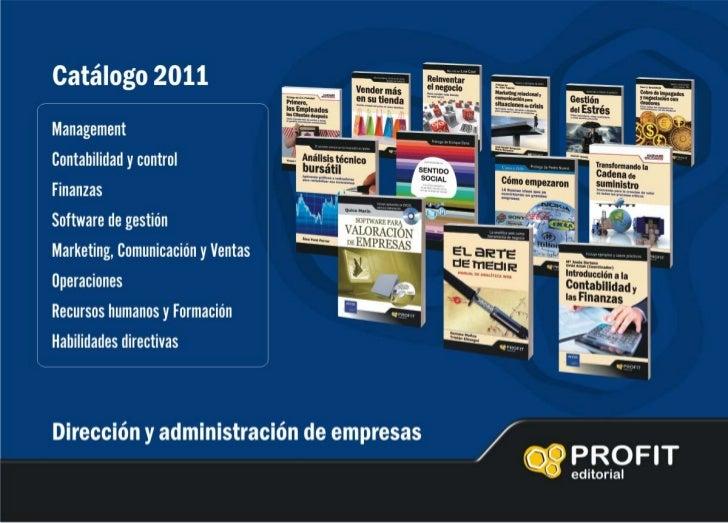Catálogo Profit Editorial 2011