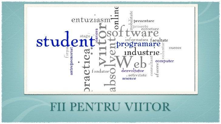 """O prezentare de Catalin Bordianu in cadrul evenimentului """"FII pentru viitor"""""""