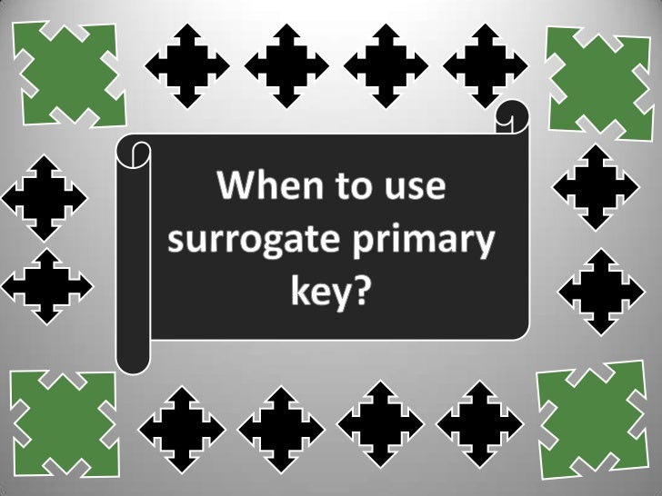INTRODUCTION There are some instances when a  primary key doesn't exist in the  real world or when the existingnatural key...