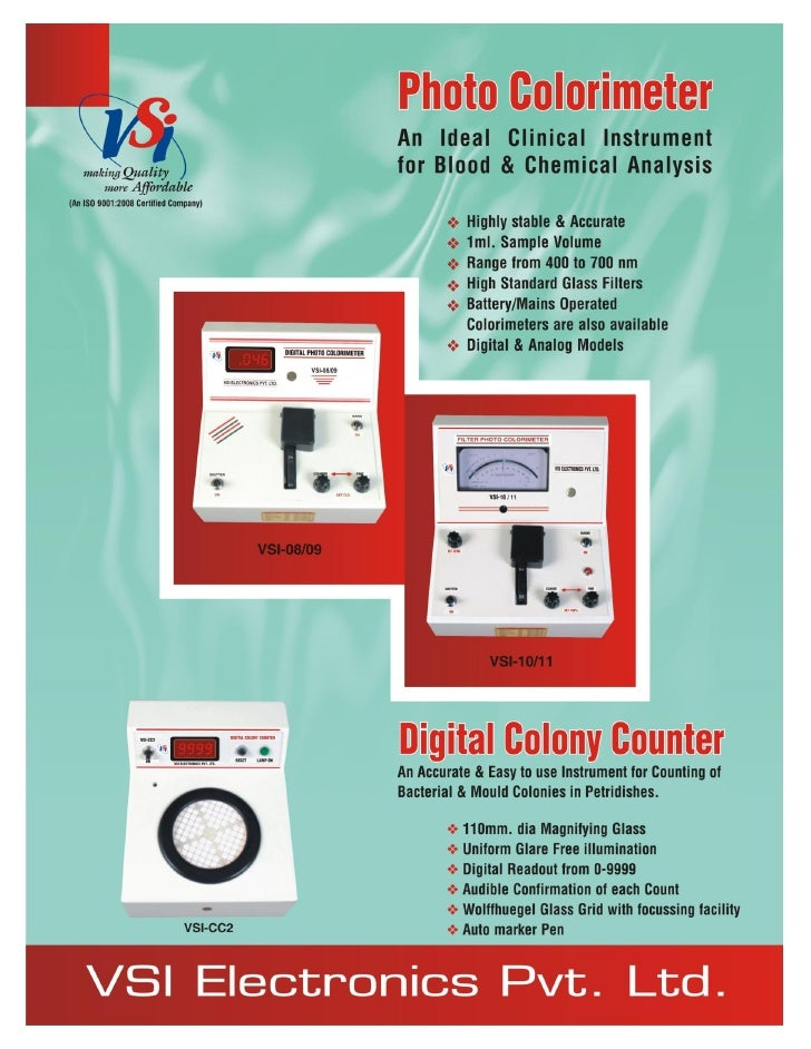 Catalog Digital Colorimeters VSI make