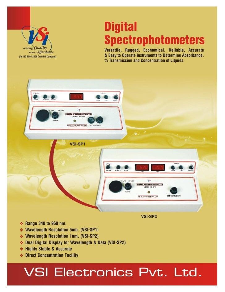 Catalog digital spectrophotometers