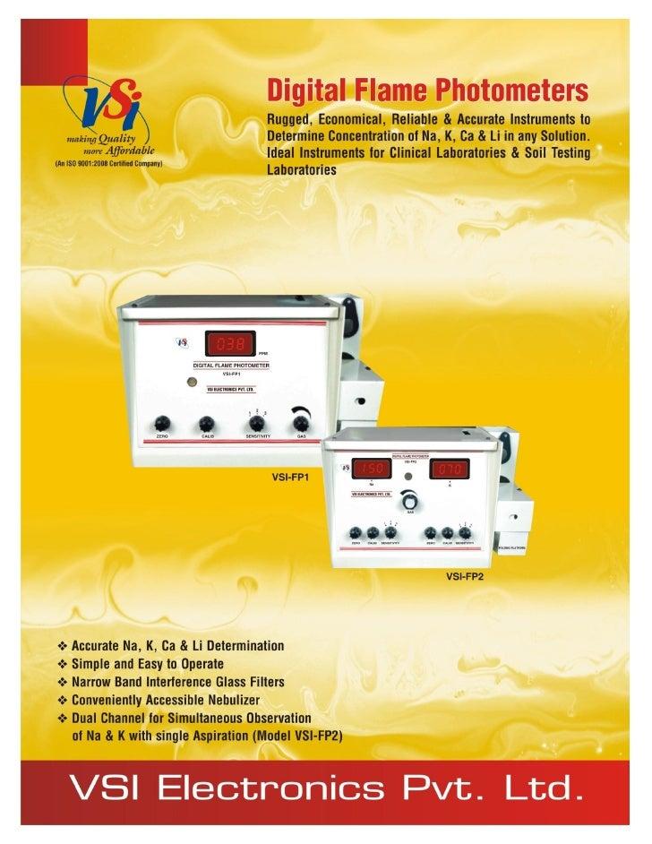 Catalog Digital Flame Photometers