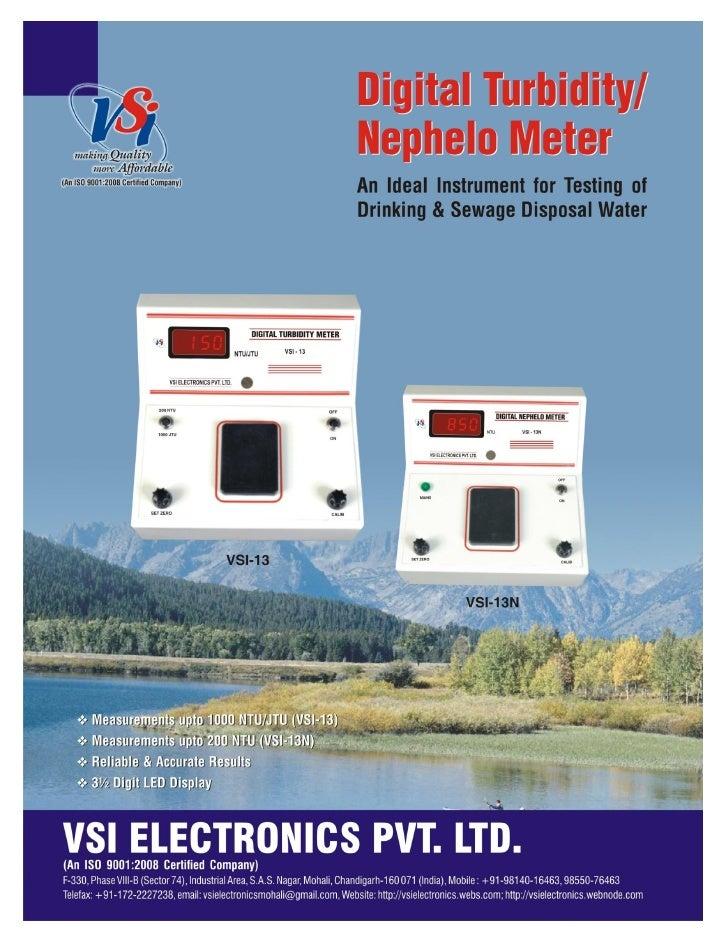 Catalog VSI-13-VSI-13N-Digital Turbidity Meters