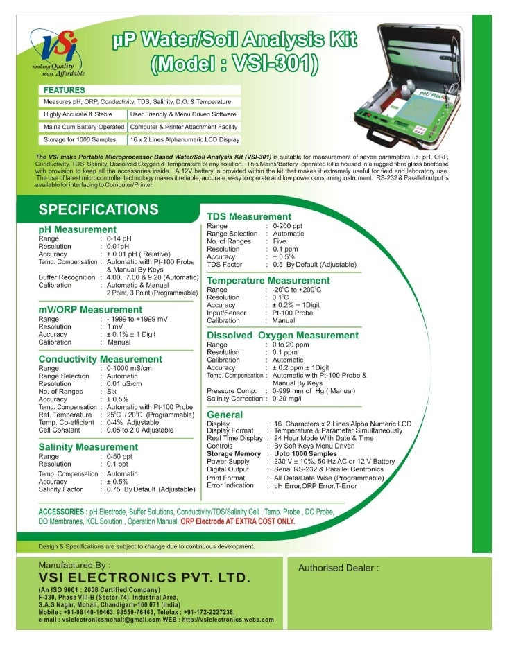 Catalog-Microprocessor based Digital Water/Soil Analysis Kits