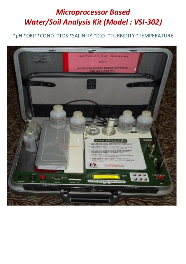 Microprocessor BasedWater/Soil Analysis Kit (Model : VSI-302)*pH *ORP *COND. *TDS *SALINITY *D.O. *TURBIDITY *TEMPERATURE