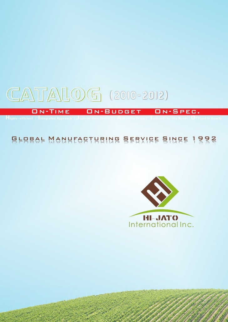 CATALOG                                                        (2010-2012)                 On-Time                        ...
