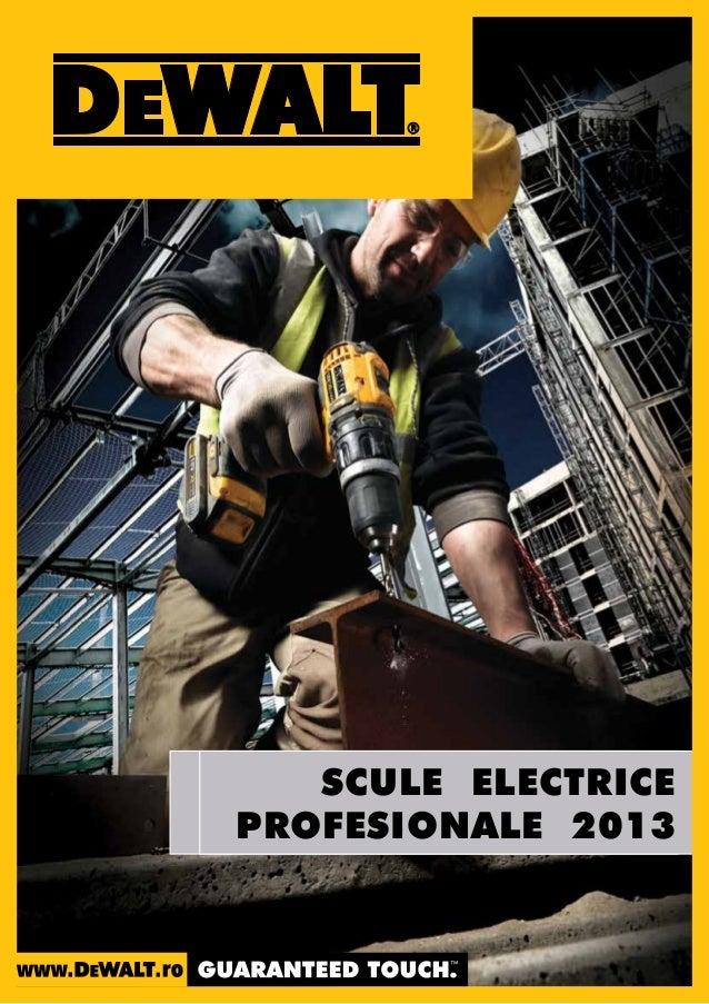 SCULE ELECTRICE PROFESIONALE 2013