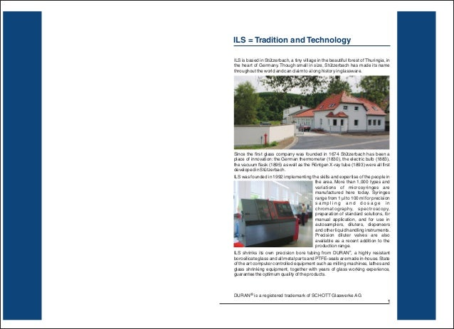ILS = Tradition and TechnologyILS is based in Stützerbach, a tiny village in the beautiful forest of Thuringia, inthe hear...