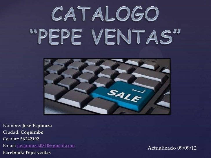 {Nombre: José EspinozaCiudad: CoquimboCelular: 56242192Email: j.espinoza.0510@gmail.com                                   ...