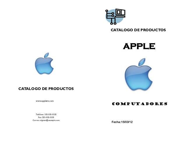 CATALOGO DE PRODUCTOS                                          APPLECATALOGO DE PRODUCTOS        www.appleinc.com         ...