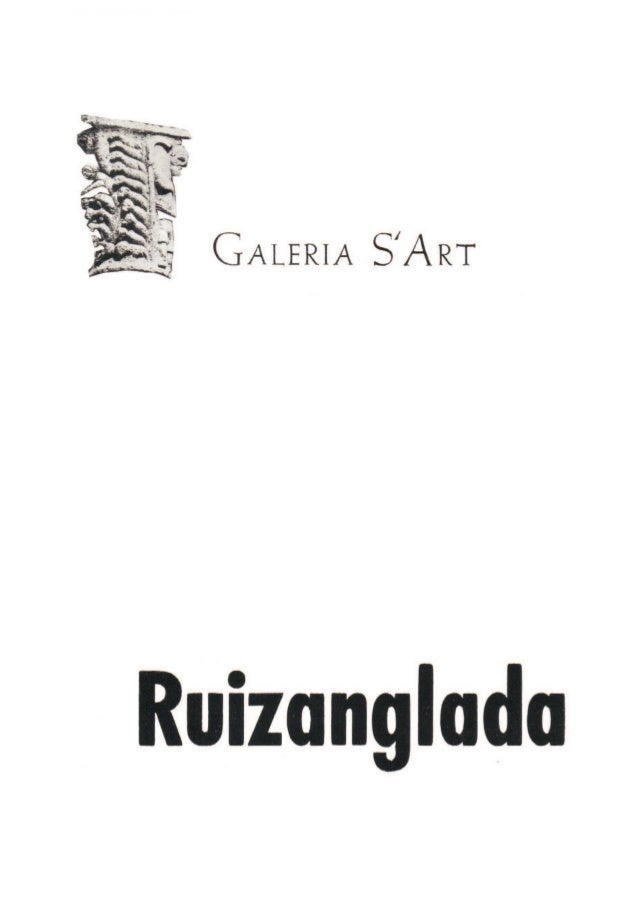 Ruizanglada Catalogo - 1977 Galeria S Art Huesca