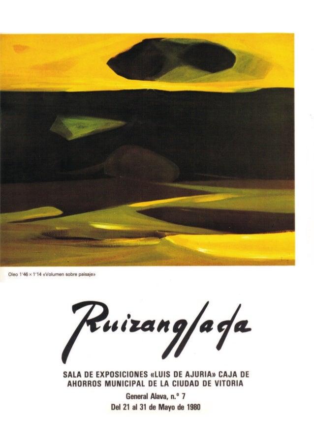 Ruizanglada Catalogo - 1980 Sala Luis de Ajuria Caja Ahorros Vitoria
