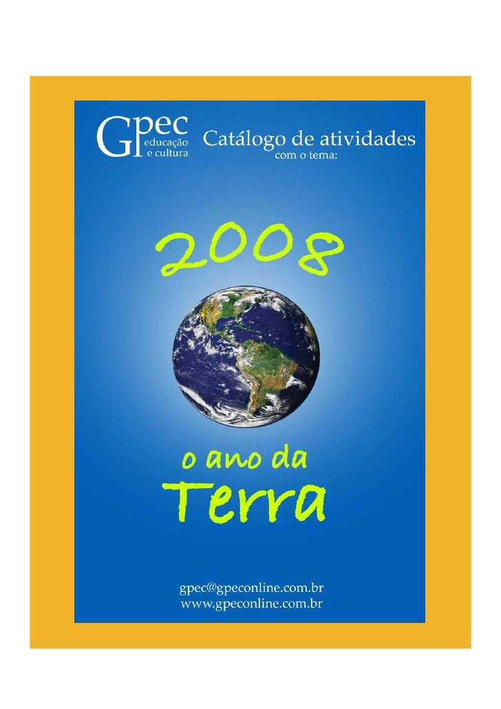 Catalogo 2008 - o ano da Terra