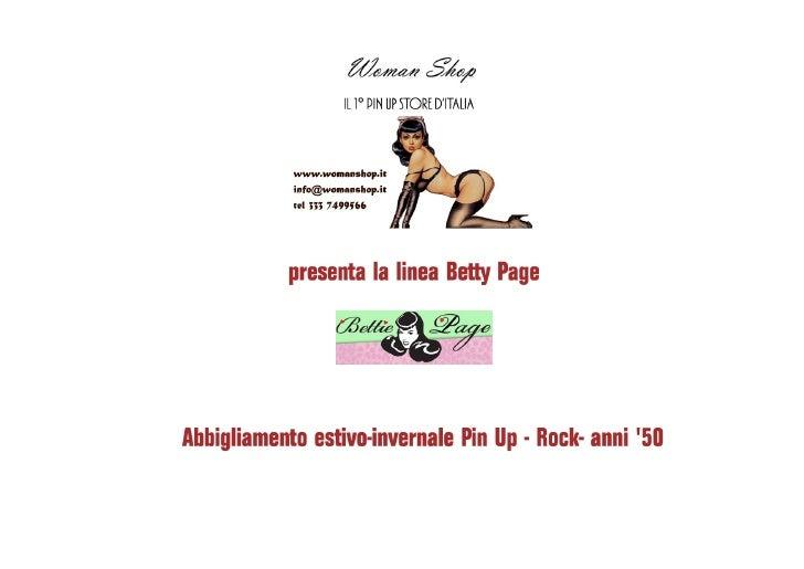 Catalogo Bettie Page aggiornato