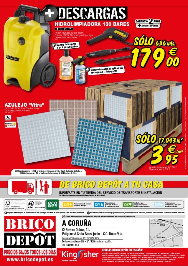Catalogo bricodepot julio 2014 for Conjuntos de jardin baratos bricodepot
