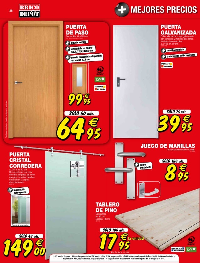 Catalogo bricodepot septiembre 2014 - Puertas de interior bricomart ...