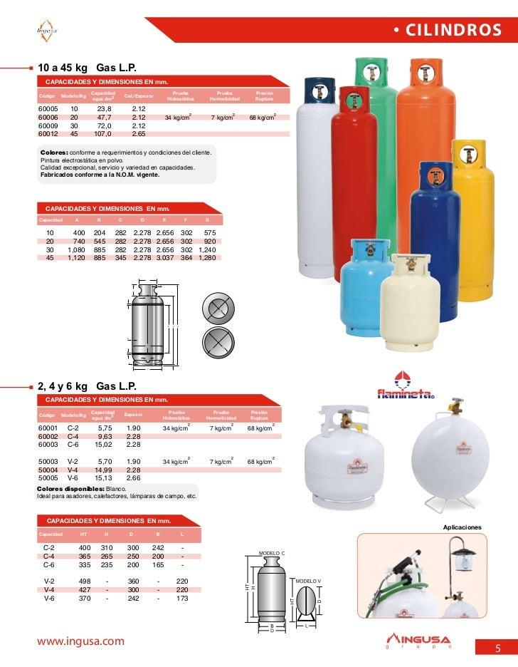 Catalogo disa 2006 2007 for Cilindro de gas 15 kilos