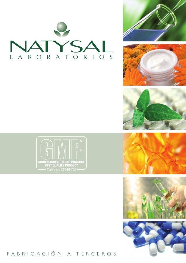 Catálogo Natysal Fabricación a Terceros