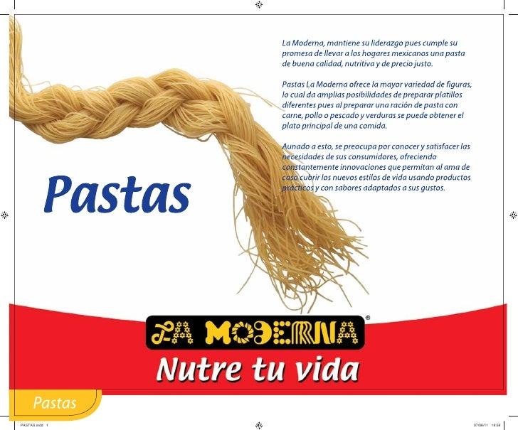 Catalogo La Moderna de Guatemala pastas