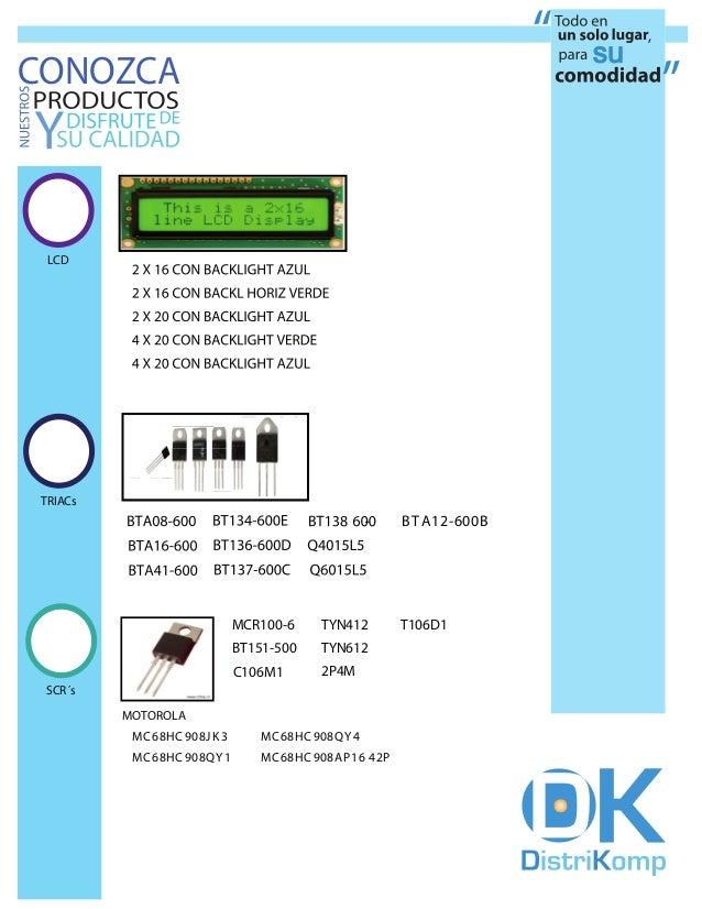 CONOZCA  LCD TRIACs                                                                        B T A 1 2 -6 0 0 B             ...