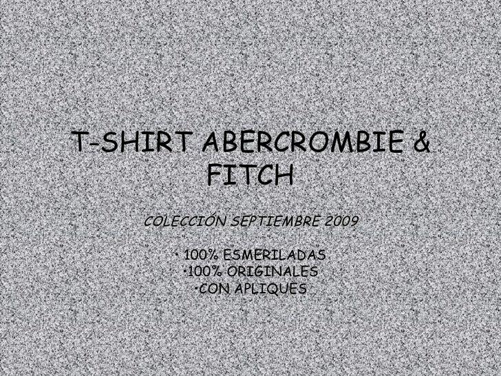 Catalogo Abercrombie