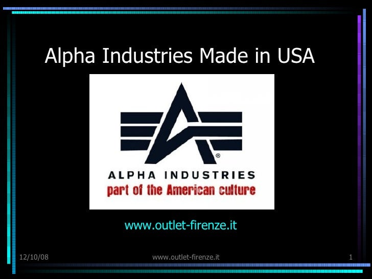 Alpha Industries Made in USA www. outlet - firenze . it