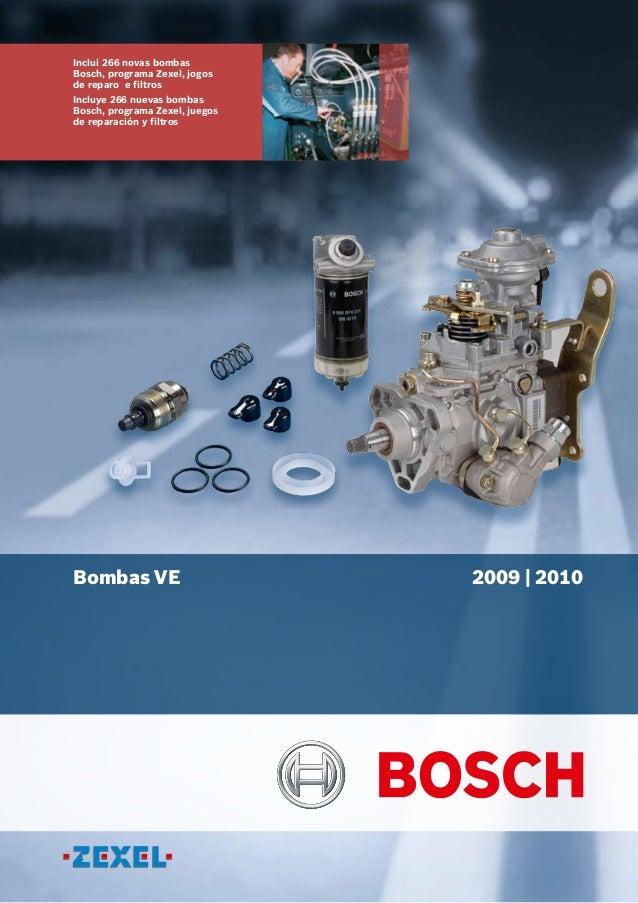 Inclui 266 novas bombas Bosch, programa Zexel, jogos de reparo e filtros Incluye 266 nuevas bombas Bosch, programa Zexel, ...