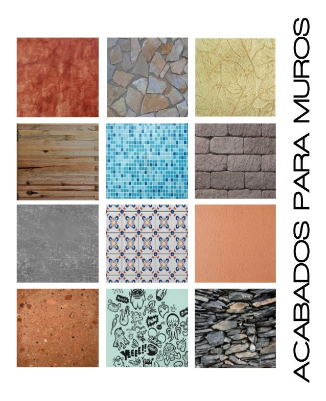 Catalogo de acabados for Pintura texturada para exterior