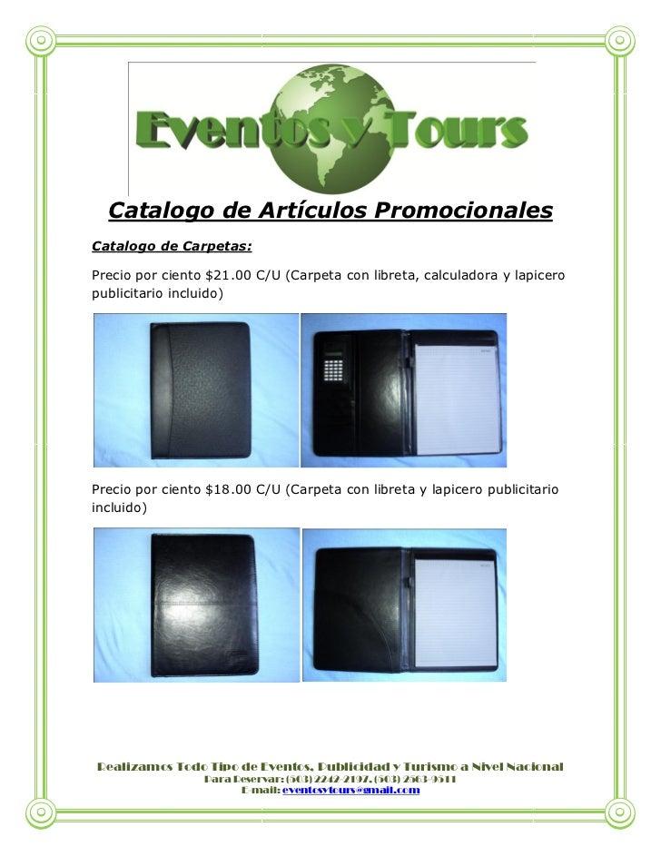 Catalogo de articulos promocionales for Catalogo de accesorios