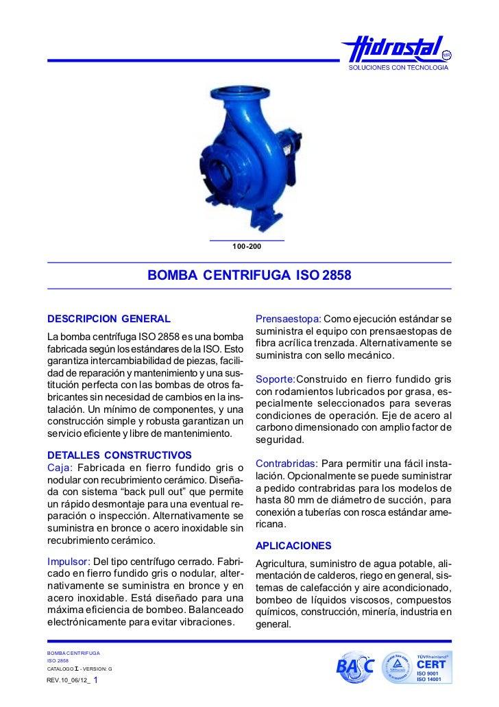 Catalogo de bombas centrifugas