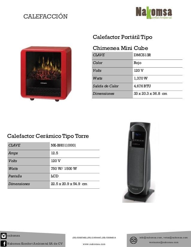Catalogo de calefaccion for Calefactor mural electrico