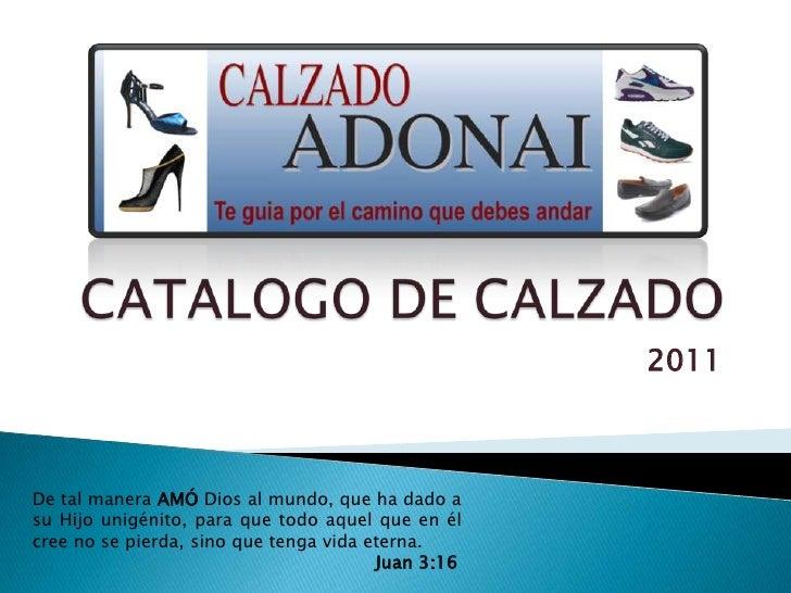 Catalogo de Calzado