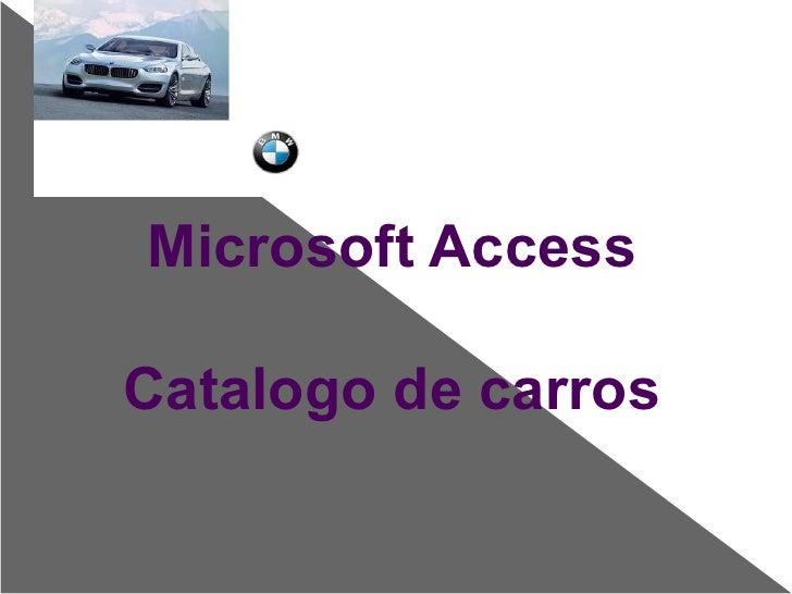 Catalogo de carros